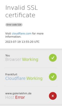 Vorschau der mobilen Webseite www.galeriekhm.de, Maier, Karl-Heinz