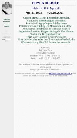 Vorschau der mobilen Webseite www.erwin-meiske.de, Meiske, Erwin (1924-2001)
