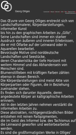 Vorschau der mobilen Webseite www.olliges-georg.de, Olliges, Georg