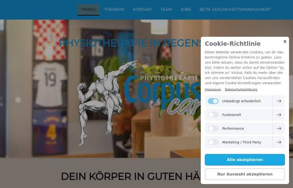 Vorschau von www.corpuscare.de, CorpusCare