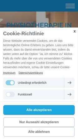 Vorschau der mobilen Webseite www.corpuscare.de, CorpusCare