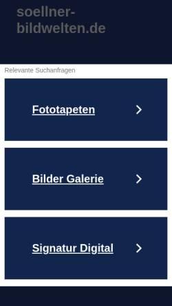 Vorschau der mobilen Webseite www.soellner-bildwelten.de, Söllner, Eduard