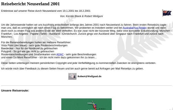 Vorschau von www.weilguni.de, Neuseeland 2001 [Kerstin Blank & Robert Weilguni]
