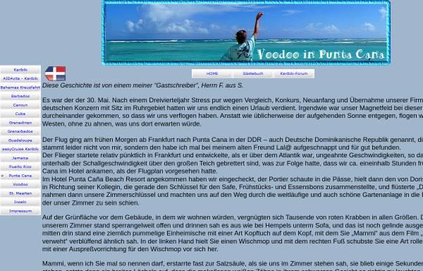 Vorschau von www.lalasreisen.de, Voodoo in Punta Caña [Volker Goeke]