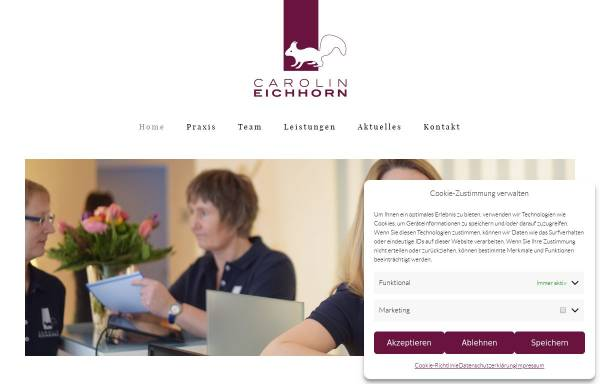 Vorschau von www.eichhorn-physiotherapie.de, Eichhorn Physiotherapie
