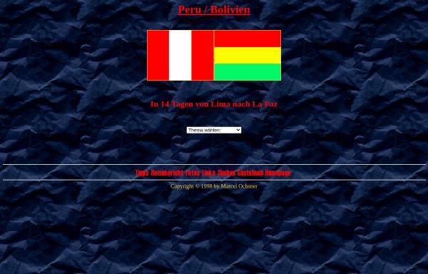 Vorschau von www.travellernet.ch, Von Lima nach La Paz [Marcel Ochsner]