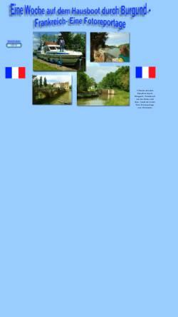 Vorschau der mobilen Webseite fotoreport.info, Urlaub auf dem Hausboot in Burgund [Jörg Kemmler]
