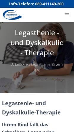 Vorschau der mobilen Webseite www.akl-bayern.de, Arbeitskreis Legasthenie e.V.