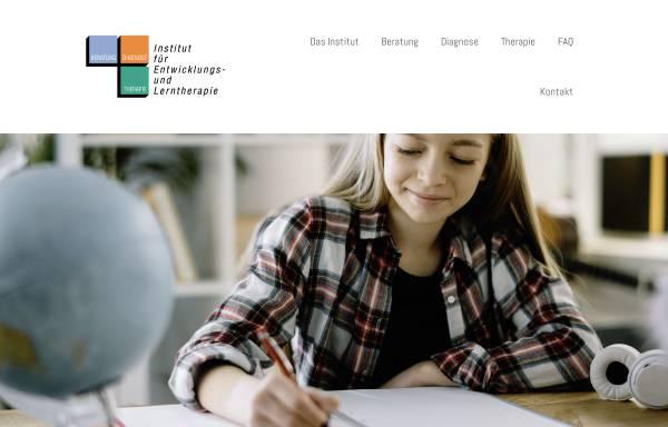 Vorschau von www.legasthenie-therapie-hamburg.de, Institut für Entwicklungs- und Lerntherapie
