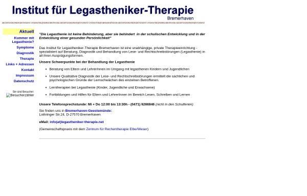 Vorschau von www.legastheniker-therapie.net, Legastheniker-Therapie Bremerhaven