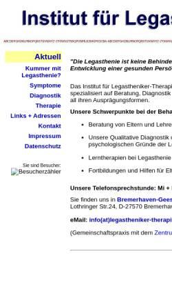 Vorschau der mobilen Webseite www.legastheniker-therapie.net, Legastheniker-Therapie Bremerhaven