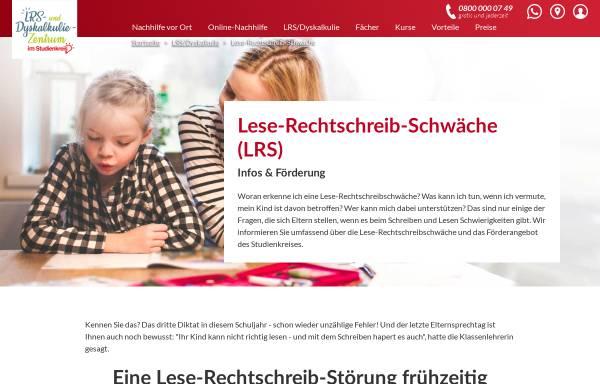 Vorschau von www.lese-rechtschreib-schule.de, Die Lese-Rechtschreib-Schule im Studienkreis