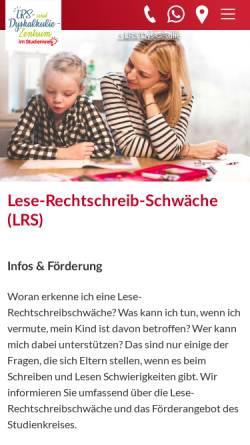 Vorschau der mobilen Webseite www.lese-rechtschreib-schule.de, Die Lese-Rechtschreib-Schule im Studienkreis