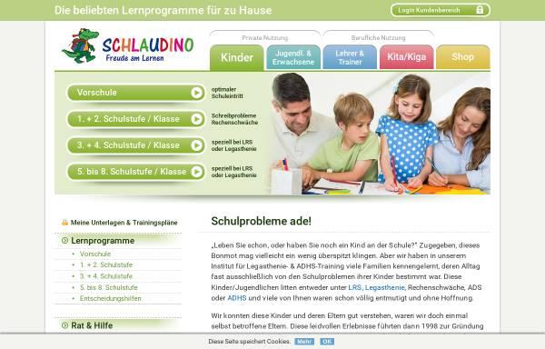 Vorschau von www.schlaudino.com, Schlaudino Eltern/Kind-Heimtrainings