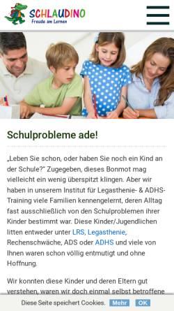Vorschau der mobilen Webseite www.schlaudino.com, Schlaudino Eltern/Kind-Heimtrainings