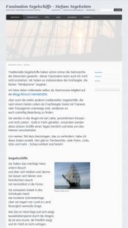 Vorschau der mobilen Webseite www.peltis.de, Stefans Segelseiten