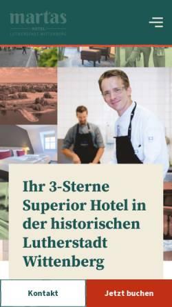 Vorschau der mobilen Webseite www.luther-hotel-wittenberg.de, Luther-Hotel Wittenberg