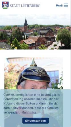 Vorschau der mobilen Webseite www.stadt-luetjenburg.de, Stadt Lütjenburg
