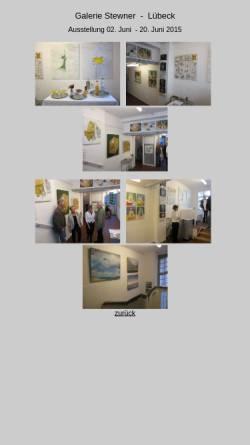 Vorschau der mobilen Webseite www.galerie-stewner.de, Galerie Stewner