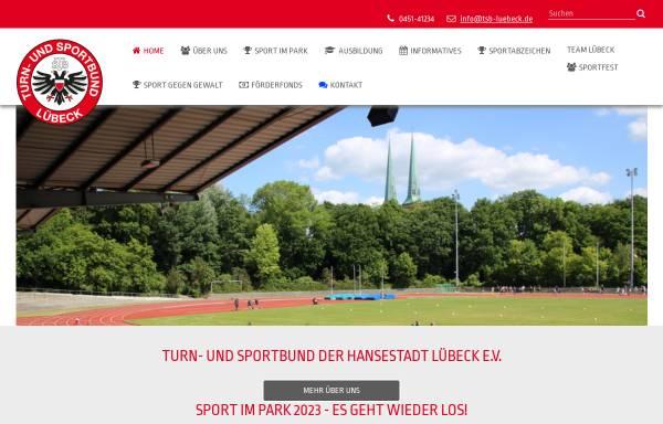 Vorschau von tsb-luebeck.de, Turn- und Sportbund der Hansestadt Lübeck e. V.