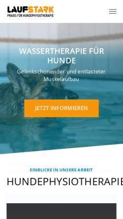 Vorschau der mobilen Webseite www.laufstark-praxis.de, Laufstark - Praxis für Hundephysiotherapie