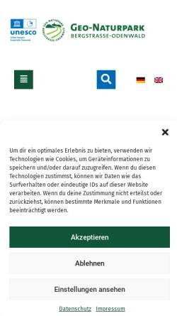 Vorschau der mobilen Webseite geo-naturpark.net, Geo-Naturpark Bergstraße-Odenwald