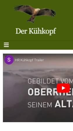 Vorschau der mobilen Webseite www.kuehkopf.de, Kühkopf
