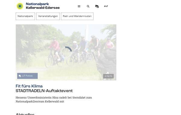 Vorschau von www.nationalpark-kellerwald-edersee.de, Nationalpark Kellerwald-Edersee