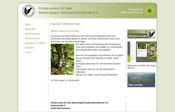 Vorschau von www.nationalparkkellerwald.de, Pro Nationalpark e.V.