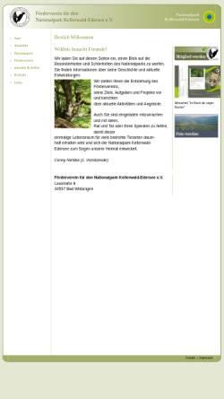 Vorschau der mobilen Webseite www.nationalparkkellerwald.de, Pro Nationalpark e.V.