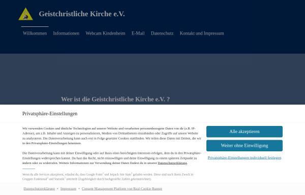 Vorschau von www.geistchristliche-kirche.de, Geistchristliche Kirche e.V.