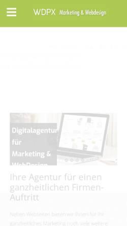 Vorschau der mobilen Webseite www.wdpx.de, WDPX-Wollweber