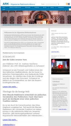 Vorschau der mobilen Webseite www.a-r-k.de, Allgemeine Rabbinerkonferenz Deutschland