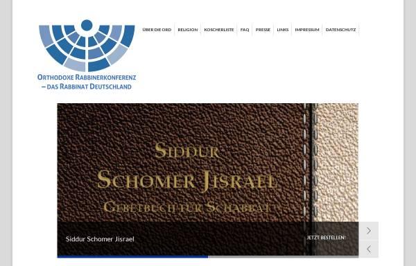 Vorschau von www.ordonline.de, Orthodoxe Rabbinerkonferenz Deutschland