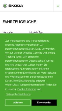 Vorschau der mobilen Webseite wagnerundsohn.skoda-auto.de, Skoda-Wagner