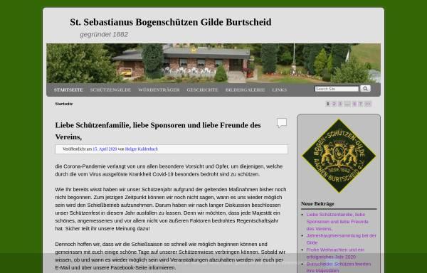 Vorschau von bogenschuetzen-gilde-burtscheid.de, St. Sebastianus Bogenschützen Gilde Burtscheid 1882 e.V.