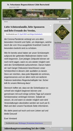 Vorschau der mobilen Webseite bogenschuetzen-gilde-burtscheid.de, St. Sebastianus Bogenschützen Gilde Burtscheid 1882 e.V.