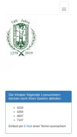 Vorschau der mobilen Webseite www.bruderschaft-mg-waldhausen.de, Bruderschaft St. Sebastianus und St. Vitus Obergeburth Waldhausen e.V., gegr. 1279