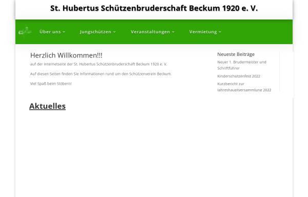 Vorschau von www.schuetzenverein-beckum.de, Schützenbruderschaft St. Hubertus Beckum 1920 e. V.