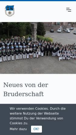 Vorschau der mobilen Webseite bruderschaftgymnich.de, Sankt Sebastianus Bruderschaft Gymnich 1139 e. V.