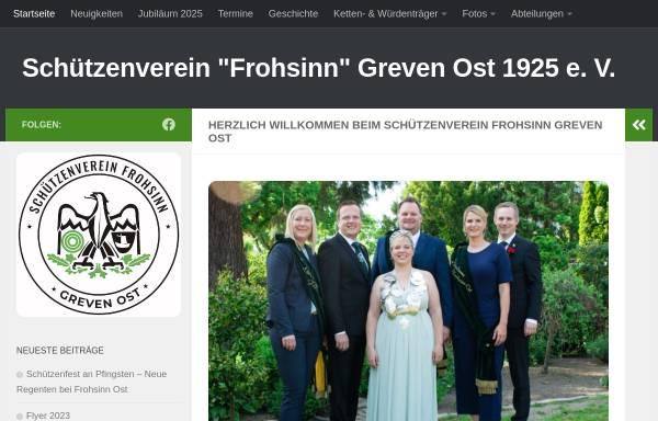 Vorschau von www.frohsinn-ost.de, Schützenverein Frohsinn Greven-Ost 1925 e.V.