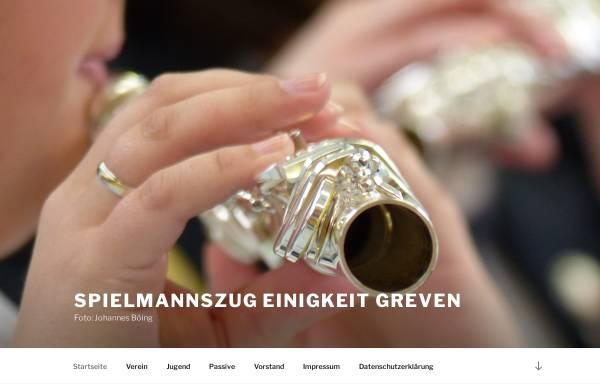Vorschau von www.einigkeit-greven.de, Spielmannszug Einigkeit Greven