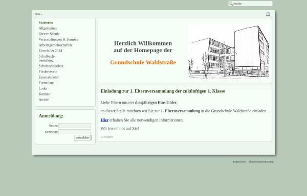 Vorschau von www.gs-wald.bildung-lsa.de, Grundschule Waldstraße Roßlau