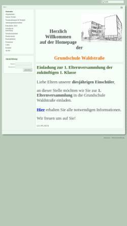 Vorschau der mobilen Webseite www.gs-wald.bildung-lsa.de, Grundschule Waldstraße Roßlau
