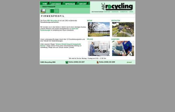 Vorschau von www.abc-recycling-dessau.de, ABC-Recycling
