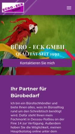 Vorschau der mobilen Webseite www.bueroeck.de, Büro - Eck GmbH