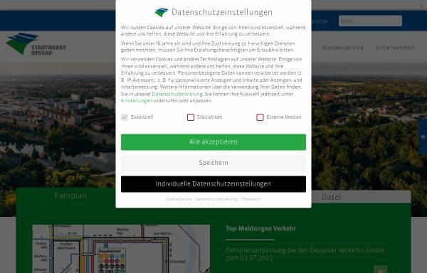 Vorschau von www.dvv-dessau.de, Dessauer Versorgungs- und Verkehrsgesellschaft mbH (DVV)