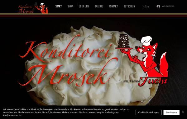Vorschau von www.konditorei-mrosek.de, Konditorei Mrosek
