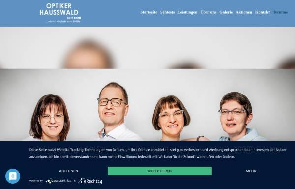 Vorschau von www.hausswald-optik.de, Optiker Hausswald, Inh. Jörg Lamprecht