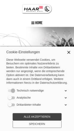 Vorschau der mobilen Webseite www.haarmobil24.de, Sandra Fischer